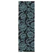 "Kaleen Habitat Collection Indoor/Outdoor Floor Runner - 2'6""x8' in Calypso Charcoal - Overstock"