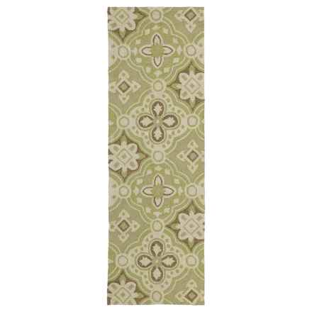 "Kaleen Habitat Collection Indoor/Outdoor Floor Runner - 2'6""x8' in Courtyard Wasabi - Overstock"