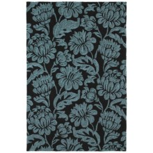 "Kaleen Habitat Indoor/Outdoor Area Rug - 5'x7'6"" in Calypso Charcoal - Closeouts"