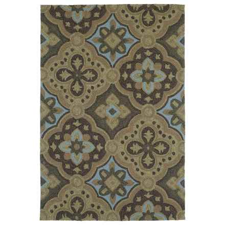 "Kaleen Habitat Indoor/Outdoor Area Rug - 5'x7'6"" in Courtyard Mocha - Closeouts"