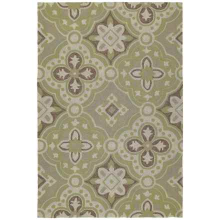 "Kaleen Habitat Indoor/Outdoor Area Rug - 5'x7'6"" in Courtyard Wasabi - Closeouts"