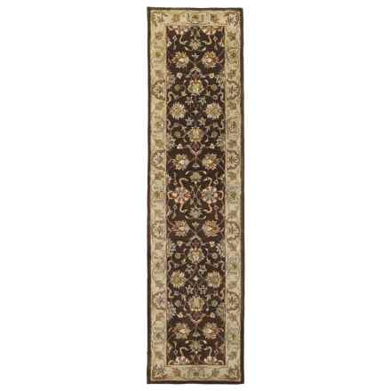 "Kaleen Heirloom Collection Floor Runner - 2'6""x10' in Melanie Brown - Overstock"