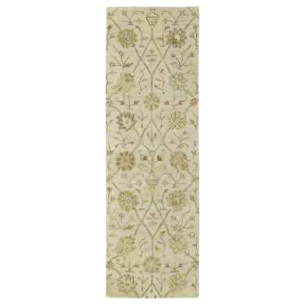 "Kaleen Helena Collection Floor Runner - 2'6""x8' in Aphrodite Ivory - Overstock"