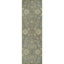 "Kaleen Helena Collection Floor Runner - 2'6""x8' in Sage - Overstock"