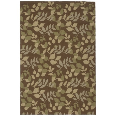 """Kaleen Home and Perch Collection Wymberly Indoor-Outdoor Area Rug - 5'x7'6"""" in Coffee"""