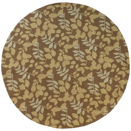 "Kaleen Home and Perch Collection Wymberly Indoor-Outdoor Area Rug - 7'9""x7'9"" in Coffee"