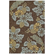 Kaleen Home & Porch Collection Accent Rug - 2x3' in Morning Glory Robins Egg - Closeouts