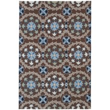 Kaleen Home & Porch Collection Accent Rug - 2x3' in Triple Medallion Blue - Closeouts