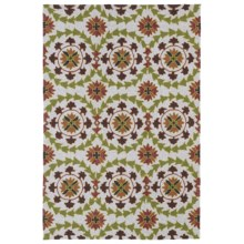 Kaleen Home & Porch Collection Accent Rug - 2x3' in Triple Medallion Brown - Closeouts