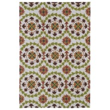 Kaleen Home & Porch Collection Indoor-Outdoor Accent Rug - 3x5' in Round Brown Medallion - Closeouts
