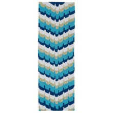 Kaleen Home & Porch Collection Indoor-Outdoor Floor Runner - 2x6' in Blue Wave - Overstock