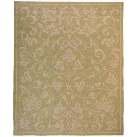 "Kaleen Home and Porch Collection Presley Indoor-Outdoor Area Rug - 7'6""x9' in Celery - Closeouts"