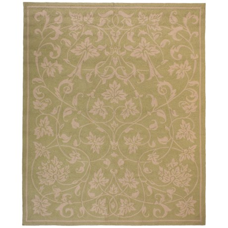 """Kaleen Home and Porch Collection Presley Indoor-Outdoor Area Rug - 7'6""""x9' in Celery"""