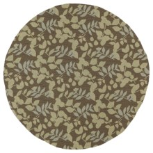 "Kaleen Home & Porch Indoor/Outdoor Area Rug - 7'9"" Round in Wymberly Coffee - Closeouts"