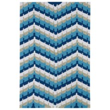 Kaleen Home & Porch Indoor/Outdoor Area Rug - 9x12' in Blue Wave - Closeouts