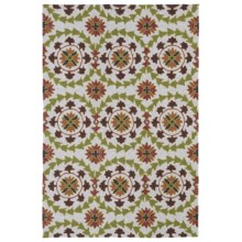 Kaleen Home & Porch Indoor/Outdoor Area Rug - 9x12' in Round Brown Medallion - Closeouts