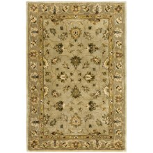 "Kaleen Imperial Garden Rug - Handcrafted Virgin Wool, 3'6""x5'6"" in Fawn - Closeouts"