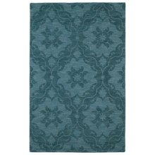 Kaleen Imprints Classic Collection Accent Rug - 2x3', Hand-Tufted Wool in Medallion Turquoise - Overstock