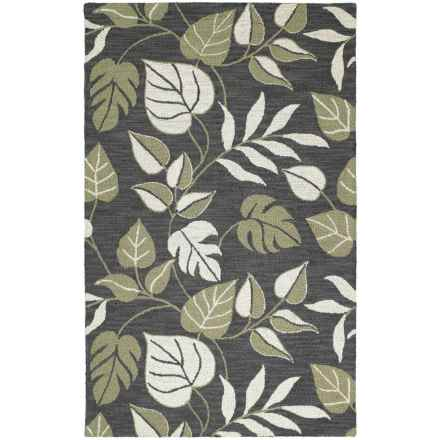 Kaleen Khazana Collection Accent Rug - 2x3', Wool in Catalina Black - Closeouts