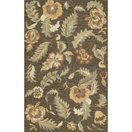 Kaleen Khazana Collection Accent Rug - 2x3', Wool in Hana Charcoal - Closeouts