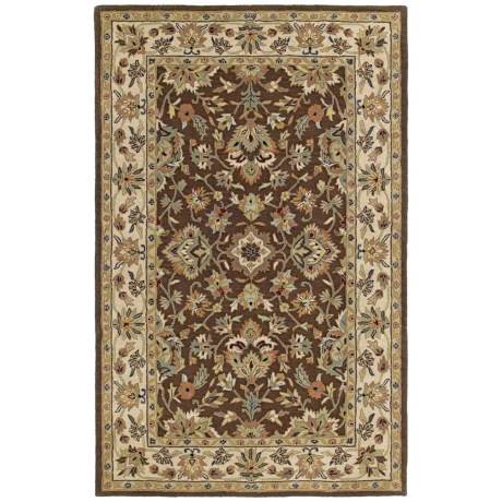 "Kaleen Khazana Collection Area Rug - 7'6""x9', Wool in St. George Chocolate"