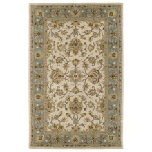 "Kaleen Khazana Collection Area Rug - 7'6""x9', Wool in St. George Ivory - Closeouts"
