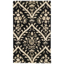 "Kaleen Khazana Collection Rug - 5'x7'9"", Wool in Antigua/Ebony - Closeouts"