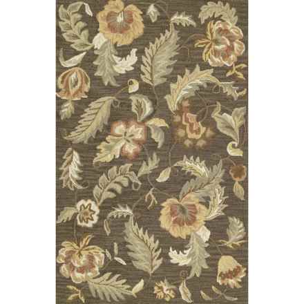 "Kaleen Khazana Collection Rug - 5'x7'9"", Wool in Hana Charcoal - Closeouts"