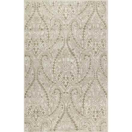 "Kaleen Khazana Collection Rug - 5'x7'9"", Wool in Teresa Ivory - Closeouts"