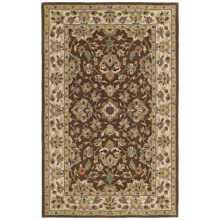Kaleen Khazana Collection Wool Area Rug - 8x11' in St. George Chocolate - Overstock