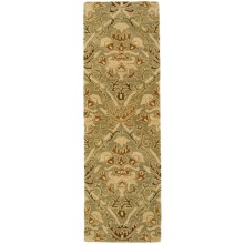 "Kaleen Khazana Collection Wool Floor Runner - 2'3""x7'6"" in Iona Nutmeg - Overstock"