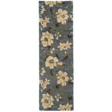 "Kaleen Khazana Collection Wool Floor Runner - 2'3""x7'6"" in Kauai Azure - Overstock"