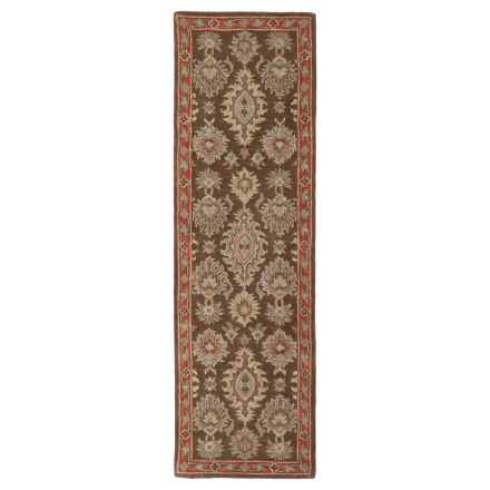 "Kaleen Khazana Collection Wool Floor Runner - 2'3""x7'6"" in Negril Coffee - Overstock"