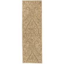 "Kaleen Khazana Collection Wool Floor Runner - 2'3""x7'6"" in Teresa Ivory - Overstock"