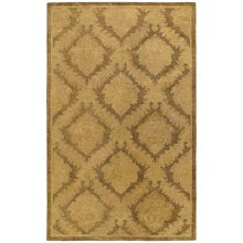 Kaleen Magi Golan Heights Washed Virgin Wool Accent Rug - 2x3' in Chino - Closeouts