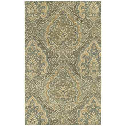 Kaleen Magi Washed Virgin Wool Accent Rug - 2x3' in Damascus Graphite - Overstock