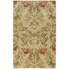 Kaleen Magi Washed Virgin Wool Accent Rug - 2x3' in Garden Of Eden Linen - Overstock