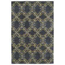 Kaleen Melange Accent Rug - 3x5', Hand-Tufted Wool in Graphite/Gold/Ivory/Grey - Overstock