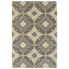 Kaleen Melange Accent Rug - 3x5', Hand-Tufted Wool in Mushroom/Charcoal/Grey/Ivory - Overstock