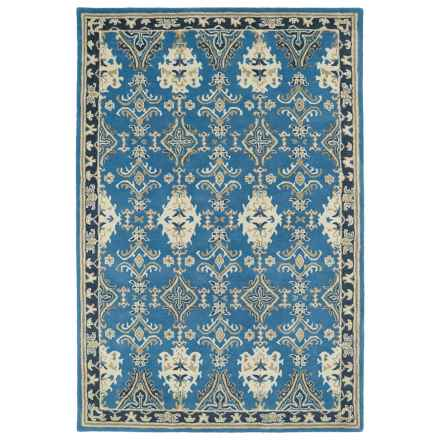 Kaleen Middleton Accent Rug - 3x5', Hand-Tufted Wool in Blue - Overstock