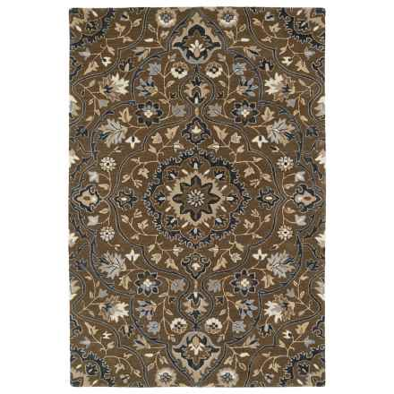 Kaleen Middleton Accent Rug - 3x5', Hand-Tufted Wool in Chocolate - Overstock