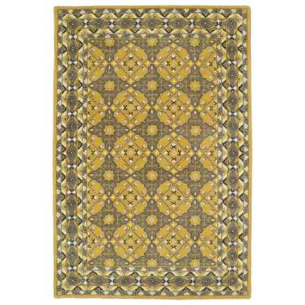 Kaleen Middleton Accent Rug - 3x5', Hand-Tufted Wool in Gold - Overstock
