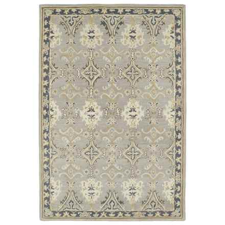 Kaleen Middleton Accent Rug - 3x5', Hand-Tufted Wool in Grey - Overstock