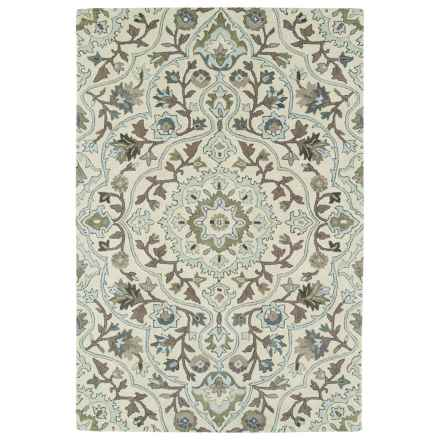Kaleen Middleton Accent Rug - 3x5', Hand-Tufted Wool in Ivory - Overstock