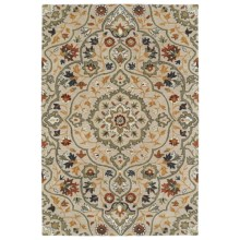 Kaleen Middleton Accent Rug - 3x5', Hand-Tufted Wool in Mushroom - Overstock