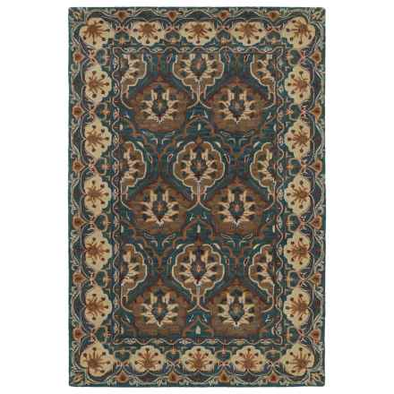 Kaleen Middleton Accent Rug - 3x5', Hand-Tufted Wool in Teal - Overstock
