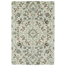 Kaleen Middleton Area Rug - 9x12', Hand-Tufted Wool in Ivory - Overstock