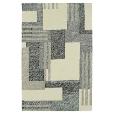 Kaleen Montage Wool Accent Rug - 2x3' in Camel - Closeouts