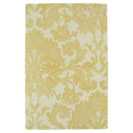 Kaleen Montage Wool Accent Rug - 2x3' in Gold Floral - Closeouts