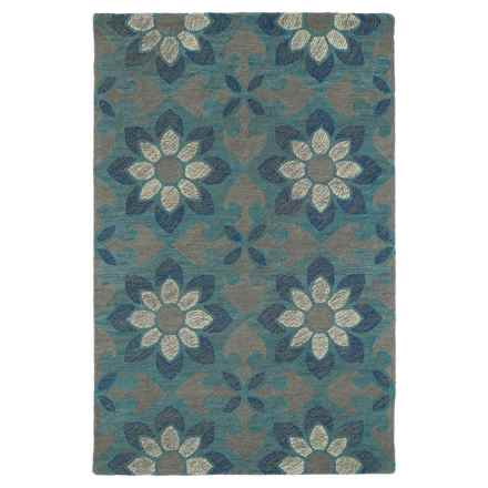 Kaleen Montage Wool Accent Rug - 2x3' in Grey Floral - Closeouts